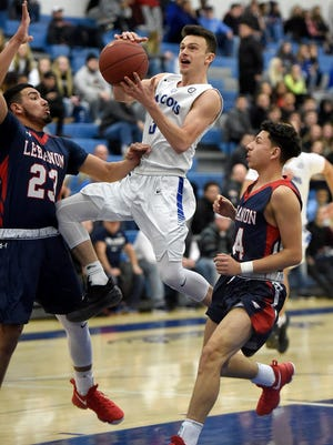 Dylan Miller came up big late to help Cedar Crest to a 64-62 win over Lebanon in four overtimes on Friday night.