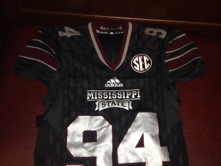 Mississippi State will wear black jerseys for the fourth time under Dan Mullen on Saturday.