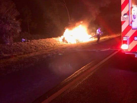 Fellsmere officials respond to fatal crash on I-95