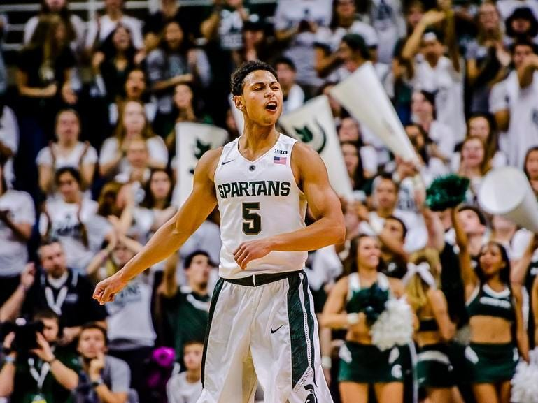 Bryn Forbes packed on 17 pounds this offseason, noticeably in the shoulder and arms.