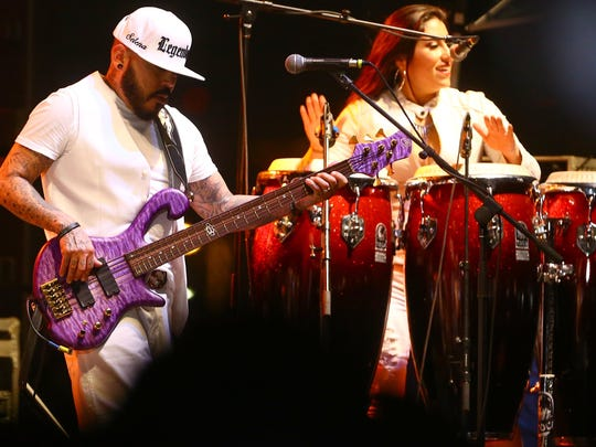 A.B. Quintanilla's Kumbia Kings All Starz performed Fiesta de la Flor: A celebration of the Life & Legacy of Selena on Saturday, April 18, 2015, at North Bayfront Park in Corpus Christi.