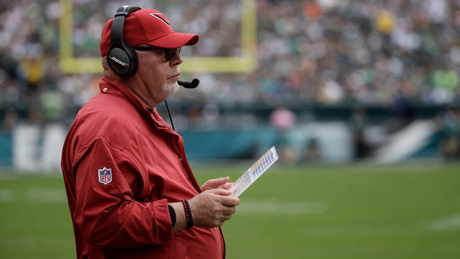 "Bruce Arians said, ""Blame me,"" in response to questions about the Cardinals' blowout loss to the Eagles."