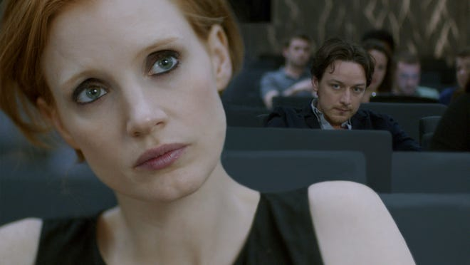 """Jessica Chastain and James McAvoy in a scene from """"The Disappearance of Eleanor Rigby."""""""