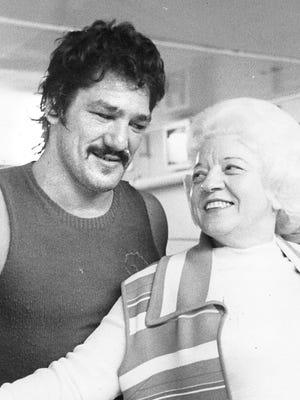 IN 1976: Boxer Oscar Bonavena was  managed by Sally Conforte.
