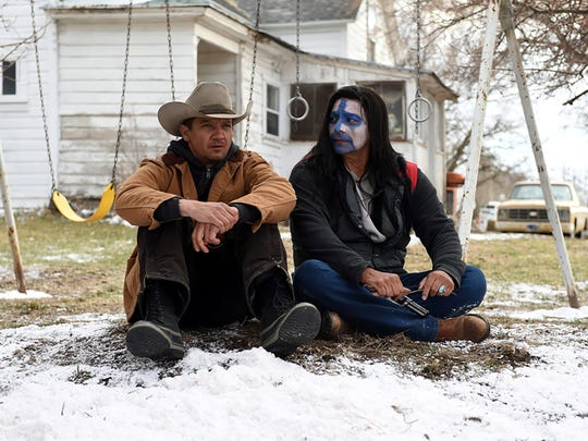 Gil Birmingham (right, with Jeremy Renner) wears a