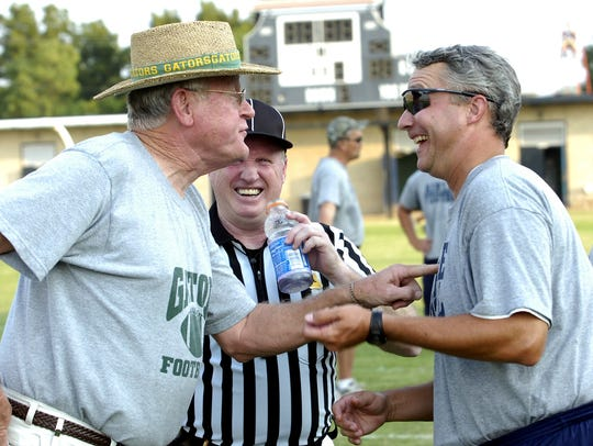 Former Captain Shreve football coach Ken Ivy jokes