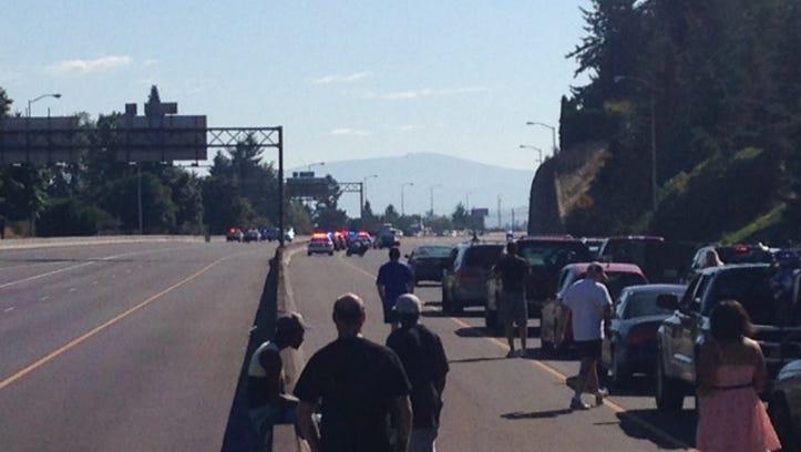 Police activity on I-84