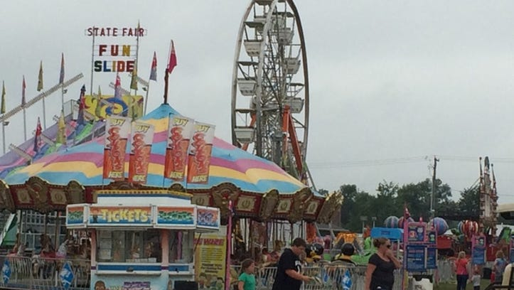 Two children were hurt when they fell from a Ferris wheel at the Chelsea Community Fair.