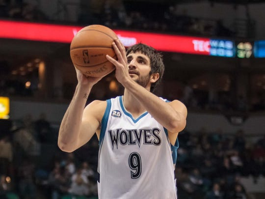Timberwolves guard Ricky Rubio shot a career high 38.1%