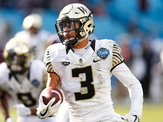 Wake Forest Demon Deacons defensive back Jessie Bates