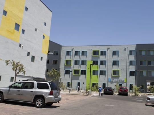 La Mesita apartment complex shown in Mesa, Arizona