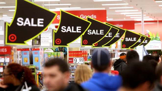 Black Friday sales could be found everywhere at the Target store on John R Road in Madison Heights, Michigan on Thursday, November 26, 2015.