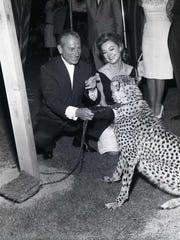 Hoagy Carmichael with leopard (Courtesy of Tracy Conrad).