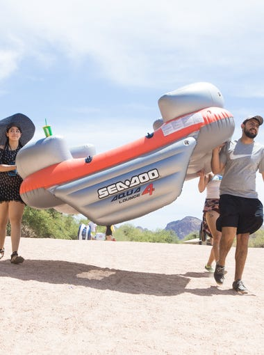 The opening of Salt River Tubing proved to be a great way to stay cool as temperatures were on the rise in the Valley on Sunday, April. 29, 2018.