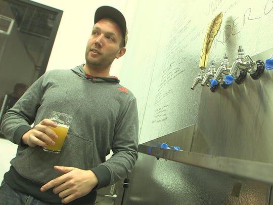 Owner and head brewer Jason Goldstein, the man behind