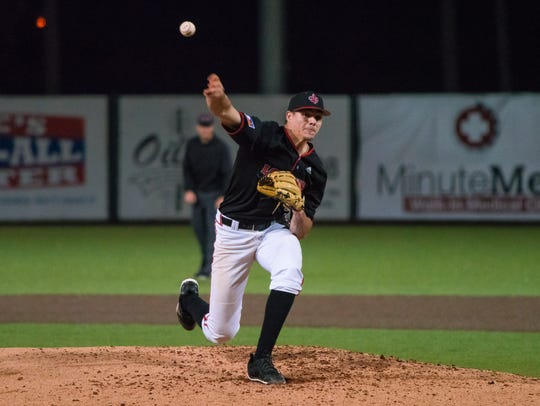 UL's Nick Lee went 8.0 innings and got the win against South Alabama last Friday night.