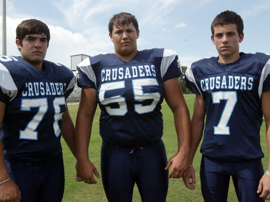 Westminster Christian Academy offensive leaders from 2009 were: Addison King, Brandon Porche and Chris Laborde.