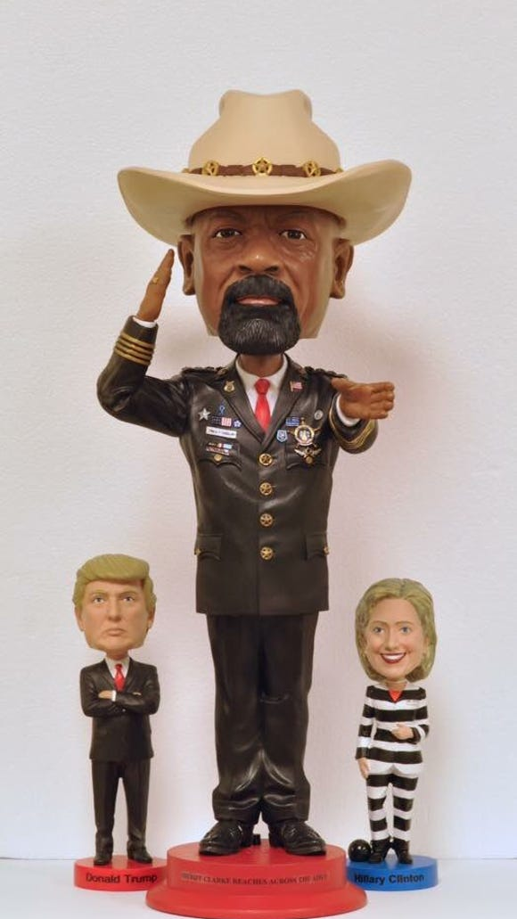Sheriff David A. Clarke Jr. bobblehead being distributed at CPAC event this week.