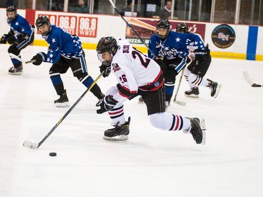 Jersey Shore Wildcats' Nathaniel Block (26) skates