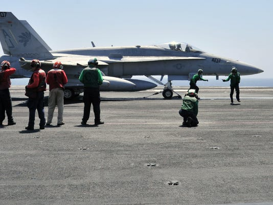 Navy FA-18 photo of Iraq raid