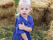 August Bowden, 2, of Mukwonago wanders through a straw bale maze during Muk Fest at Mukwonago High School on Sept. 9. The community event featured inflatable attractions and games. Proceeds benefitted the Friends of Mukwonago Athletics (FOMA) field turf project.