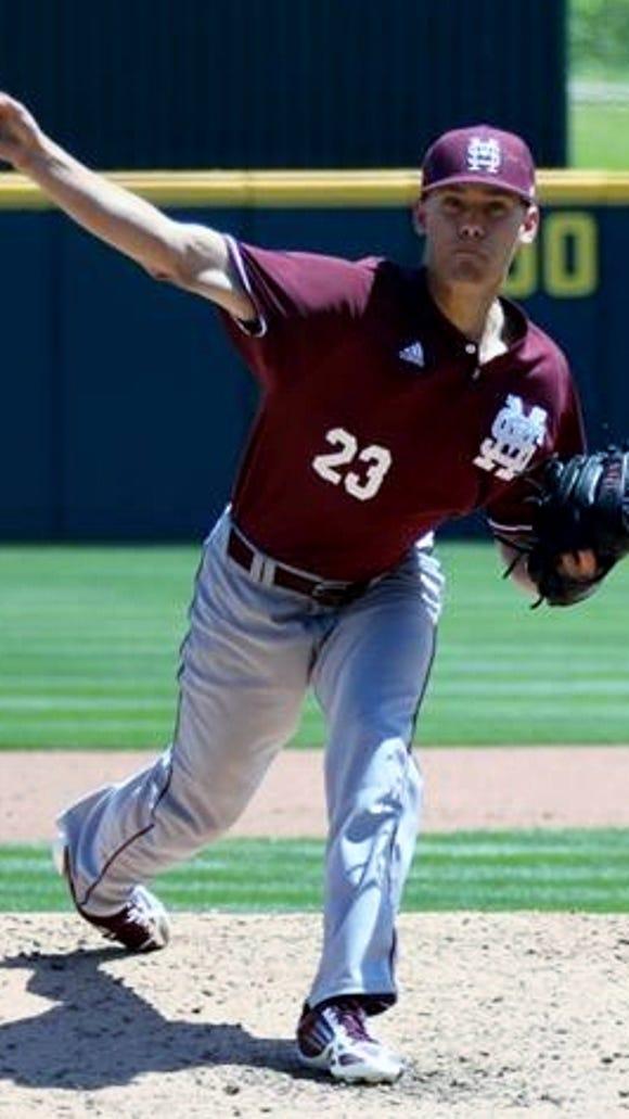 Mississippi State pitcher Austin Sexton