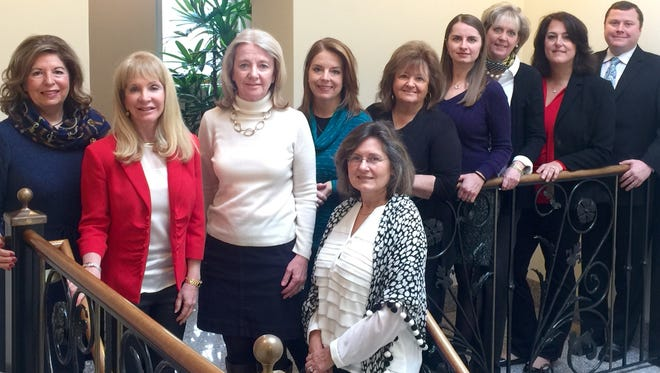 Coldwell Banker 2015 NJR Circle of Excellence award winners in Summit are, Louis Biunno, left, Debbie  Clark, Betty Ann Lecky, Kim Cannon, Eileen Sergent, Natalya Price, Lori  Dahl, Lisa Kulback, Sean Driscoll, and in front, Christine Niedzielski Clark Betty Ann Lecky Kim Cannon Eileen Sergent Natalya Price Lori  Dahl Lisa Kulback Sean Driscoll. Front: Christine Niedzielski