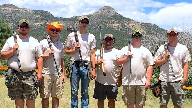 Members of the Troy Junior Sportsmen came in second overall in the senior division in last month's NRA Youth Hunter Education Challenge national championship. From left are Clayton Mount, Colton Pierce, Jarrod Rathbun, Coach Jeff Castle, Derek Beach and Dylan Krise.