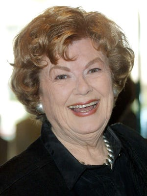 Barbara Hale, seen here in 2001, has died. She's best known for her work on 'Perry Mason.'