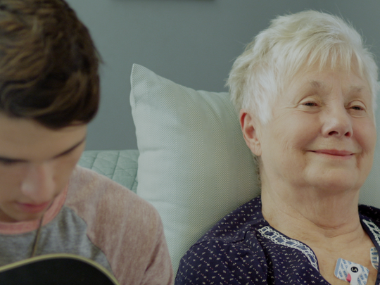Oscar-winner Shirley Jones ('Elmer Gantry,' 'The Partridge Family') is featured in family film 'On The Wing' in the role of Grandma Ryburn. She is pictured alongside newcomer Brennon Tolbert, who plays her grandson.