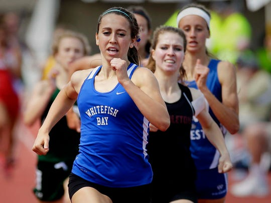 Whitefish Bay's Cami Davre won 10 state track and field championships during her illustrious prep career.