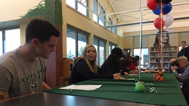 West Salem athletes sign letters of intent on Wednesday, November 8, 2017.