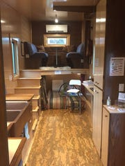 The view inside the Lunsford's tiny house.  The home is only 210 square feet.