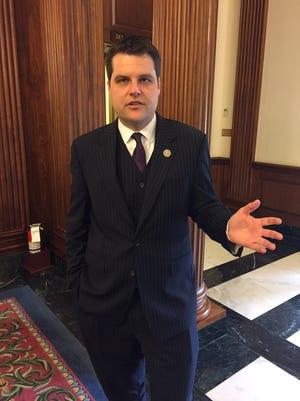 Rep. Matt Gaetz, R-Fort Walton Beach, at the U.S. Capitol recently.