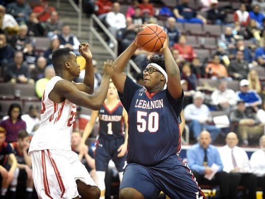 Lebanon Cedar Khalique Washington looks for two against