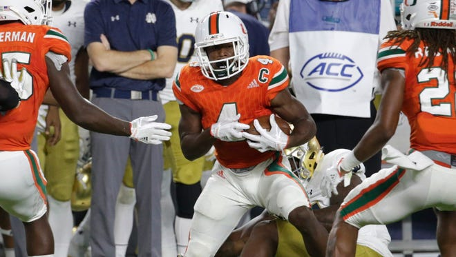 Miami defensive back Jaquan Johnson is eager to face UW quarterback Alex Hornibrook.