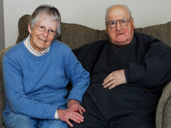 Chug Floro and his wife, Marjorie, are shown last February.