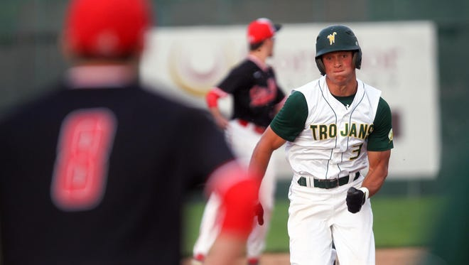 West High sophomore Oliver Martin is hitting .328 with 27 RBI leading into postseason play. The Trojans face Burlington at 7 p.m. on Friday at West in a first-round substate game.