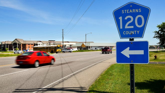 The intersection at Stearns County Roads 120 and 4, shown Tuesday, June 6, will be upgraded with implementation of a Stearns County sales tax increase. Without the sales tax, this project is not included in the county's five-year plan for road construction projects.