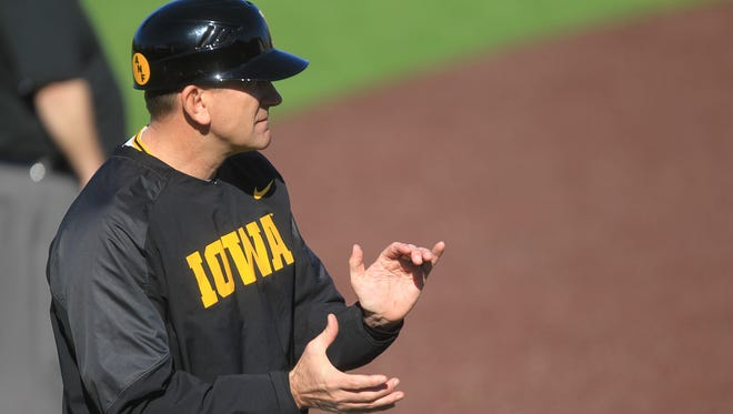 Iowa head baseball coach Rick Heller hopes to keep the hot play going at Maryland this week. Iowa swept Indiana and Purdue to start the Big Ten season.