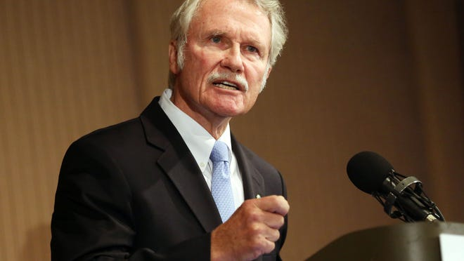 Gov. John Kitzhaber during a debate in 2014 at the Sentinel Hotel in Portland.