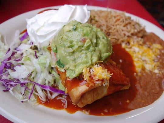 The Pack: Picadillo Chimichanga at Aunt Chilada's.