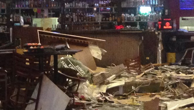 The inside of Diamond Billiards is trashed after a pickup truck smashed through the Pine Island Road business. A drunk driver slammed into the Cape Coral billiards hall, killed one person and sent himself along with two others to a hospital.