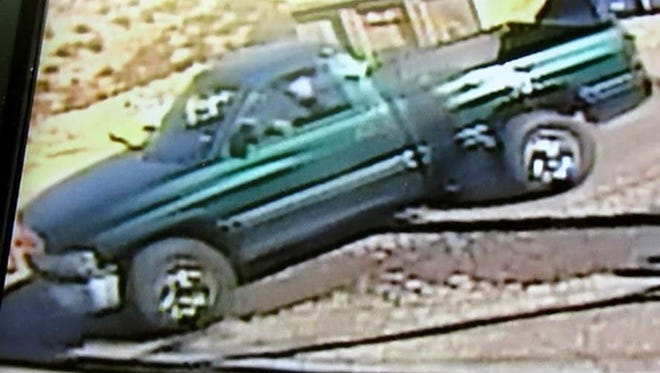 A man accused of holding up two dry cleaning stores in West El Paso was allegedly driving a 1994 to 2001 Dodge Ram 1500 truck.