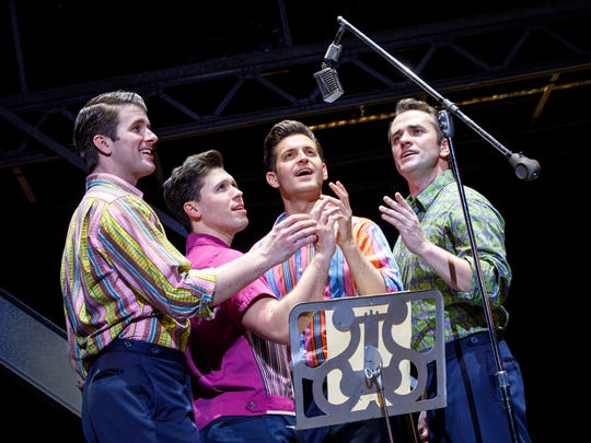 """Jersey Boys"" - starring, from left, Chris Stevens,"