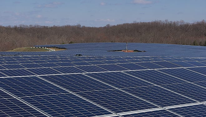 A new solar collection field near Annapolis.