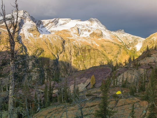 Chris Peterson's camp in the Mission Mountains Wilderness.