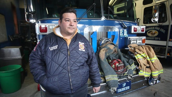 Ray Canario, Spring Valley Fire Department assistant chief, stands beside equipment that are overused and outdated that his firefighters use on Feb. 12, 2016 at the Spring Valley Fire Department.