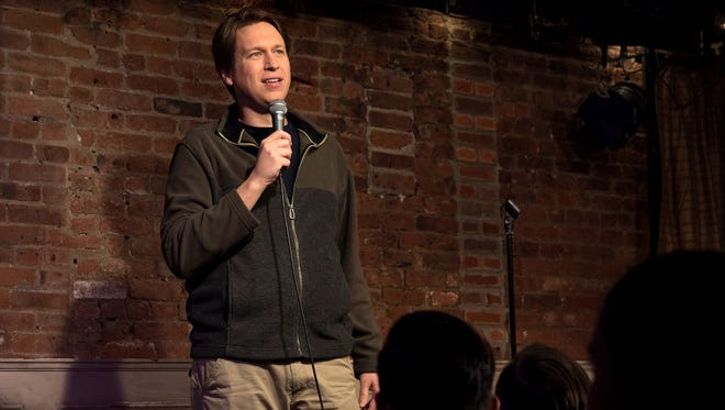 Pete Holmes in a scene from the HBO series 'Crashing'