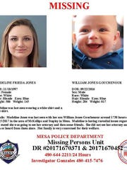 MIssing-persons report for Madeline Jones and William Jones-Gouchenour.